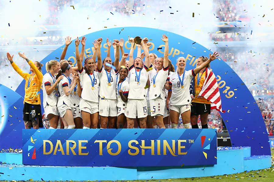 アメリカが史上2チーム目のW杯連覇を果たした【写真:Getty Images】