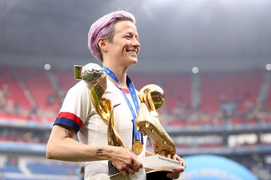 アメリカ女子代表キャプテンのMFラピノー【写真:Getty Images】