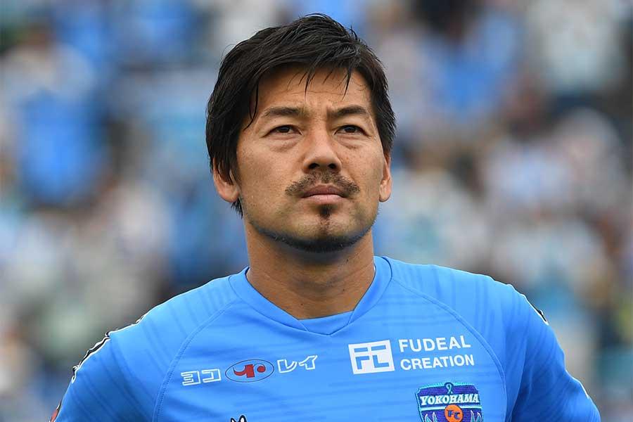 横浜FCのMF松井大輔のオーバーヘッド弾がJ2月間ベストゴールに選ばれた【写真:Getty Images】