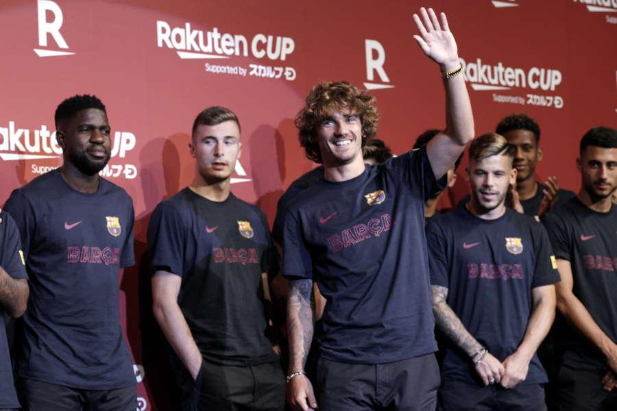 来日してRakuten CUPに参戦するバルセロナ【写真:AP】