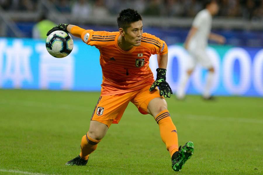ストラスブールの日本代表GK川島【写真:AP】