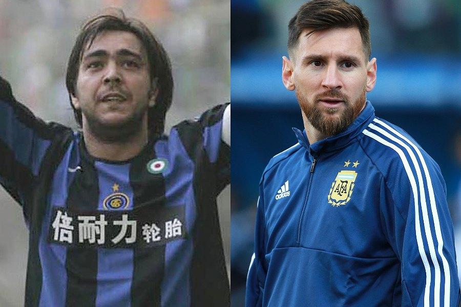 元ウルグアイ代表FWレコバ氏(左)はアルゼンチン代表FWメッシが「史上最高」と語る【写真:Getty Images】