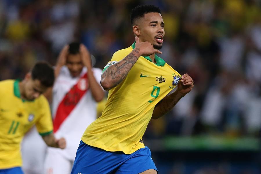 ブラジルの2点目を決めたジェズス【写真:Getty Images】