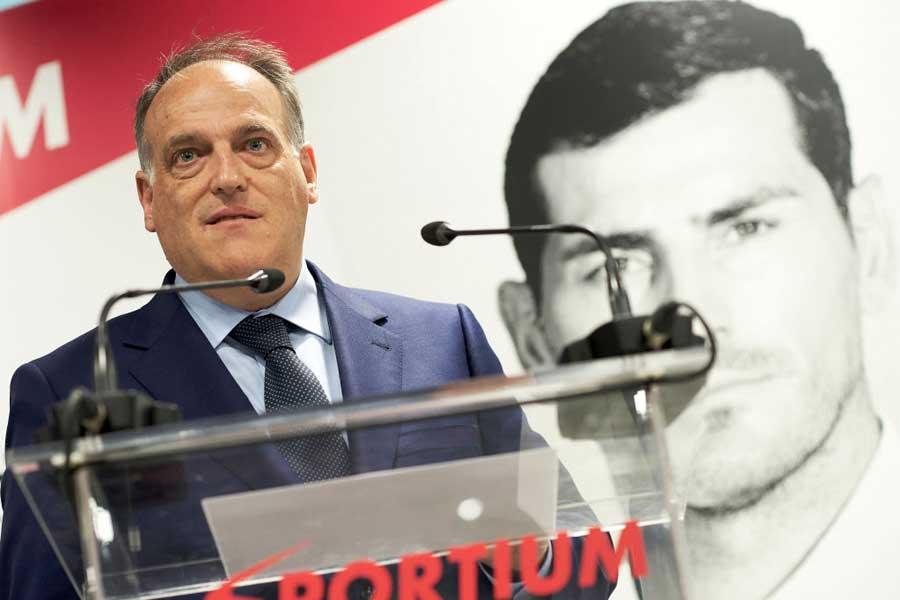スペインプロリーグ機構のハビエル・テバス会長【写真:Getty Images】