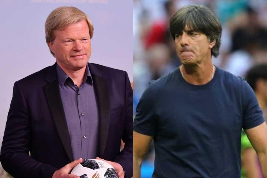 (左から)元ドイツ代表GKカーン氏、ドイツ代表レーブ監督【写真:Getty Images】