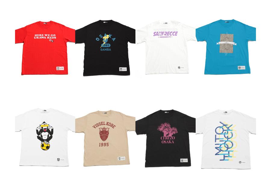 「niko and...」とJリーグのコラボTシャツが販売される【写真:niko and ...】