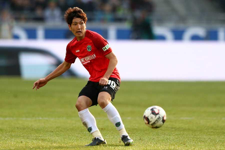 ハノーファーの日本代表MF原口元気【写真:Getty Images】