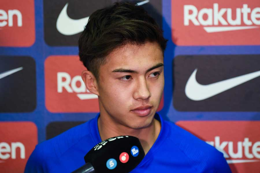 バルセロナBで初ゴールを記録した安部裕葵【写真:Getty Images】