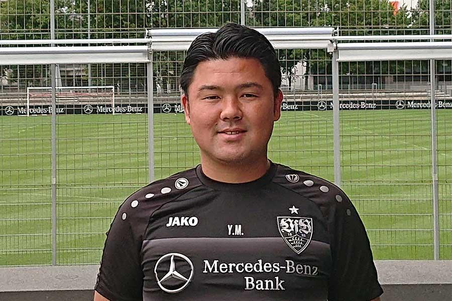 シュツットガルトU-14、15のGKコーチを務める松岡裕三郎氏【写真:本人提供】