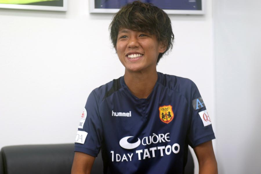INAC神戸レオネッサFW京川舞【写真:Football ZONE web】