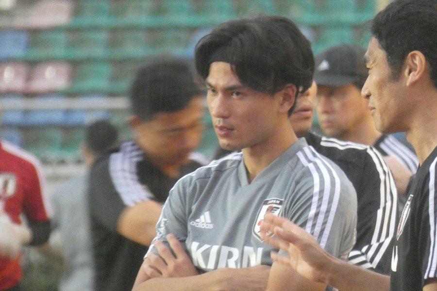 2試合連続ゴールを狙う日本代表MF南野拓実【写真:Football ZONE web】