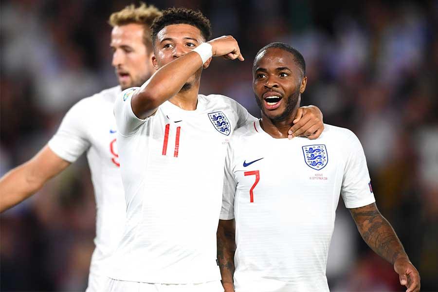 コソボに5-3で勝利を収めたイングランド代表【写真:Getty Images】