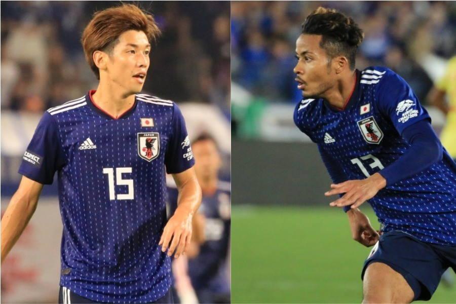 日本代表の大迫(左)と鈴木【写真:Noriko NAGANO】