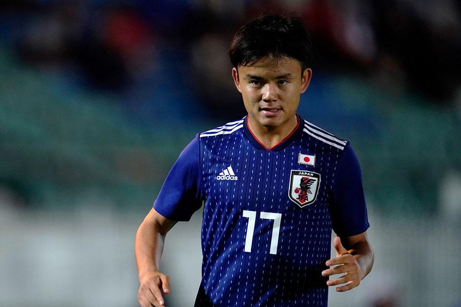 日本代表MF久保建英が、W杯予選最年少出場記録を39年ぶりに更新した【写真:Yukihito Taguchi】