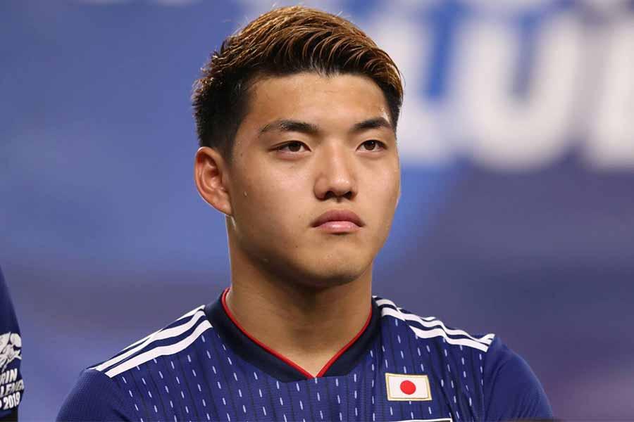 日本代表MF堂安律は2ゴールに絡む活躍を見せた【写真:高橋学】