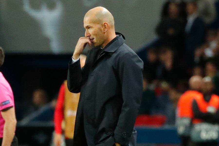 PSGに敗れたレアルのジダン監督【写真:AP】