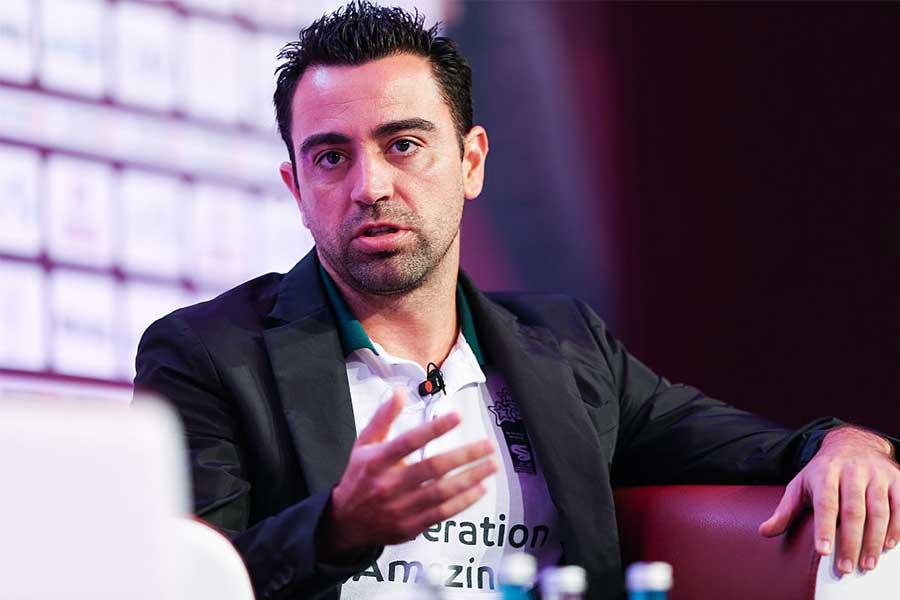 アル・サッドのシャビ監督はバルセロナの監督就任へ前向きなようだ【写真:Getty Images】
