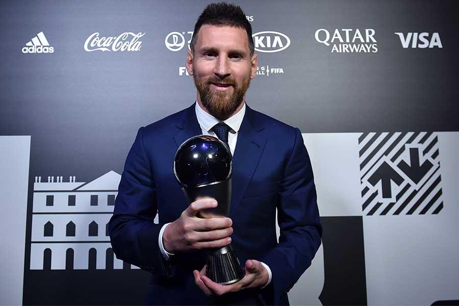 2019年の年間最優秀選手賞に選出されたメッシ【写真:Getty Images】