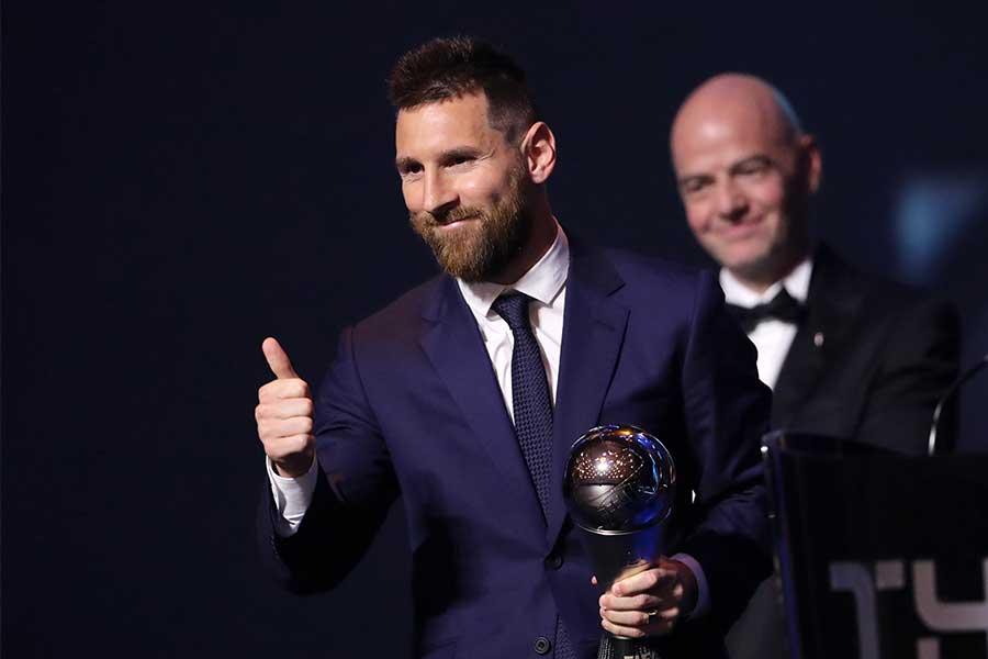 FIFA年間最優秀選手賞を受賞したメッシ【写真:Getty Images】