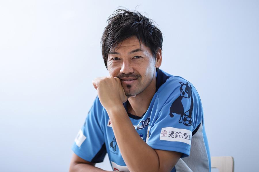 今年でプロ19年目を迎えた横浜FCのMF松井大輔【写真:荒川祐史】
