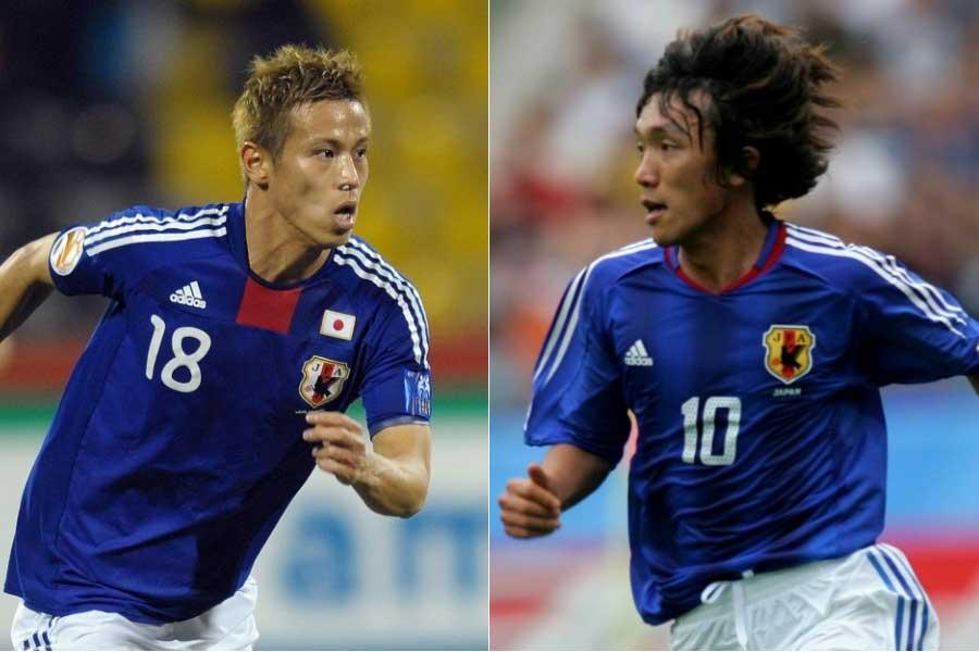 (左から)MF本田圭佑、MF中村俊輔【写真:Getty Images】