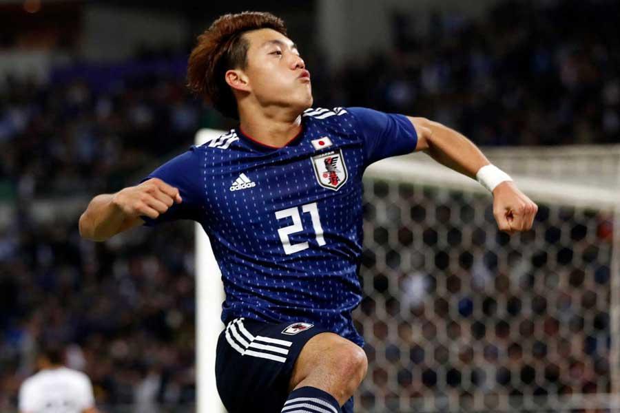 イタリアでも注目を集めている日本代表MF堂安【写真:田口有史】