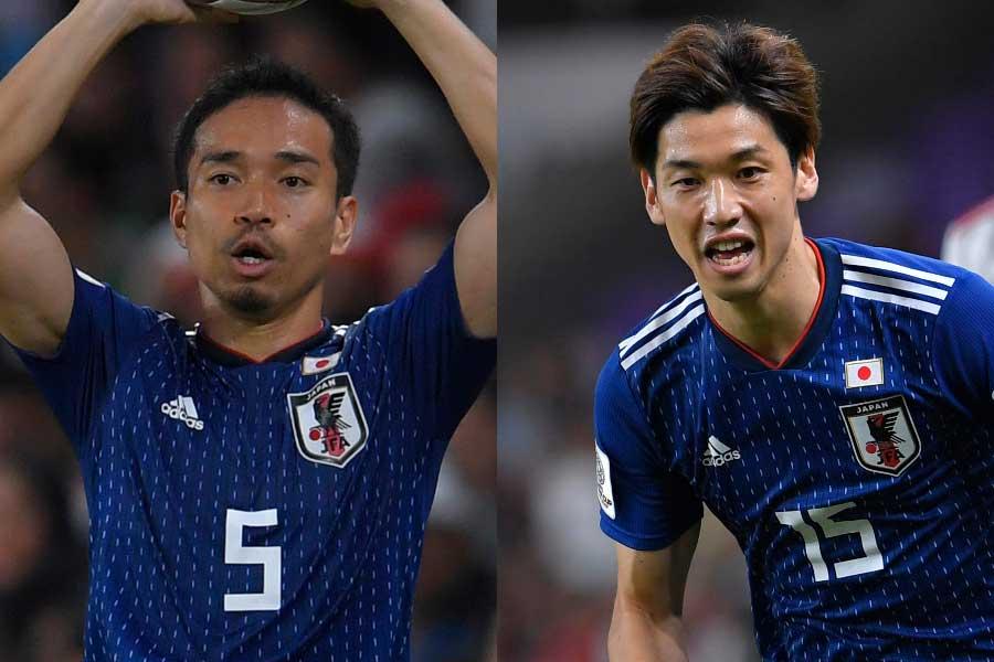 エース大迫(右)不在の日本代表に長友が言及【写真:Getty Images】