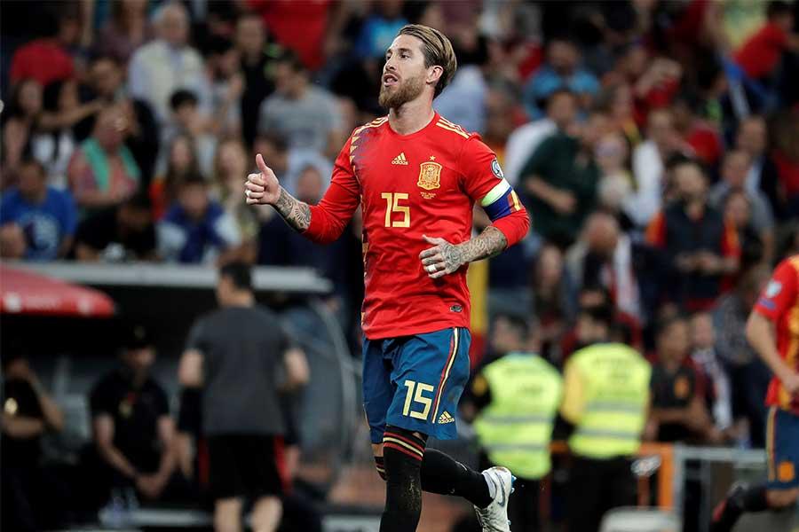 スペイン代表でキャプテンを務めるDFセルヒオ・ラモスが東京五輪に?【写真:Getty Images】