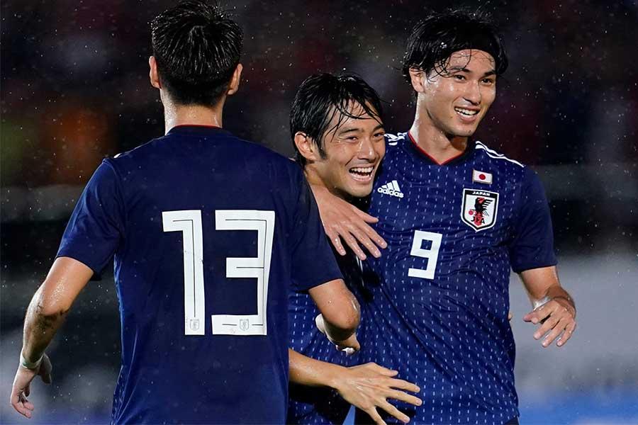 モンゴルに6発大勝した日本代表【写真:Yukihito Taguchi】