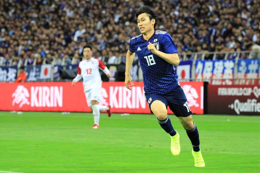 代表初ゴールを記録した日本代表MF鎌田大地【写真:Noriko NAGANO】