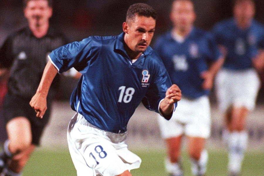 94年アメリカW杯、98年フランスW杯にはバッジョ氏は出場していた【写真:Getty Images】