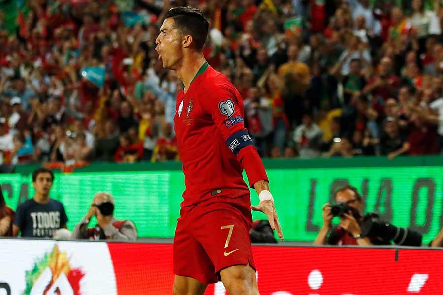 ポルトガル代表FWロナウド【写真:AP】