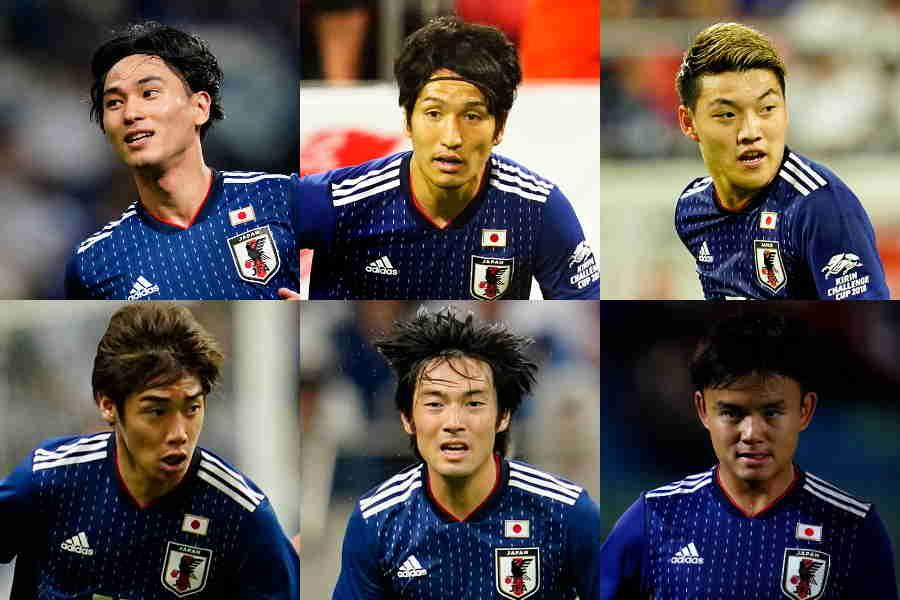日本代表の2列目にはタレントがひしめいている【写真:Yukihito Taguchi】