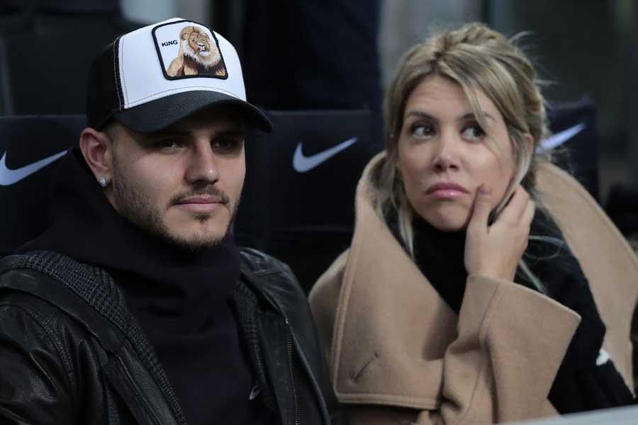 アルゼンチン代表FWマウロ・イカルディと妻のワンダ・ナラ【写真:Getty Images】