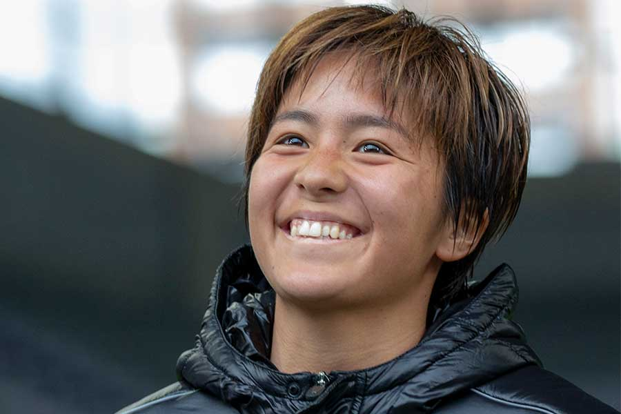 INAC神戸レオネッサのなでしこジャパン(日本女子代表)FW岩渕真奈【写真:©K.ASAKURA】
