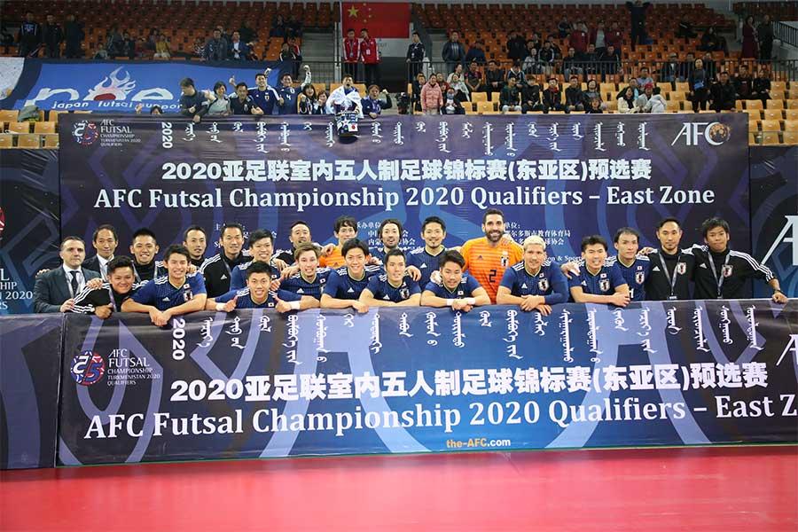 日韓戦を制したフットサル日本代表【写真:河合拓/Futsal X】