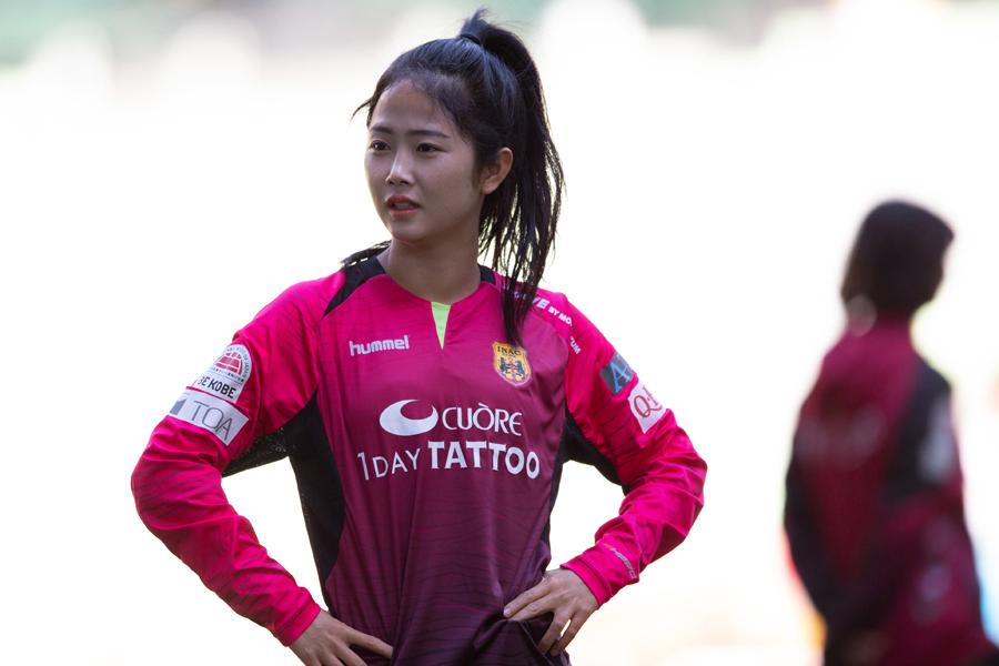 INAC神戸の韓国女子代表MFイ・ミナ【写真:朝倉健】