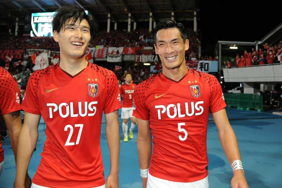 (左から)橋岡、槙野【写真:Getty Images】