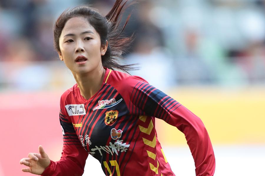 INAC神戸MFイ・ミナは、日本挑戦1年目のリーグ戦を13試合5得点で終えた【写真:後藤大輝】