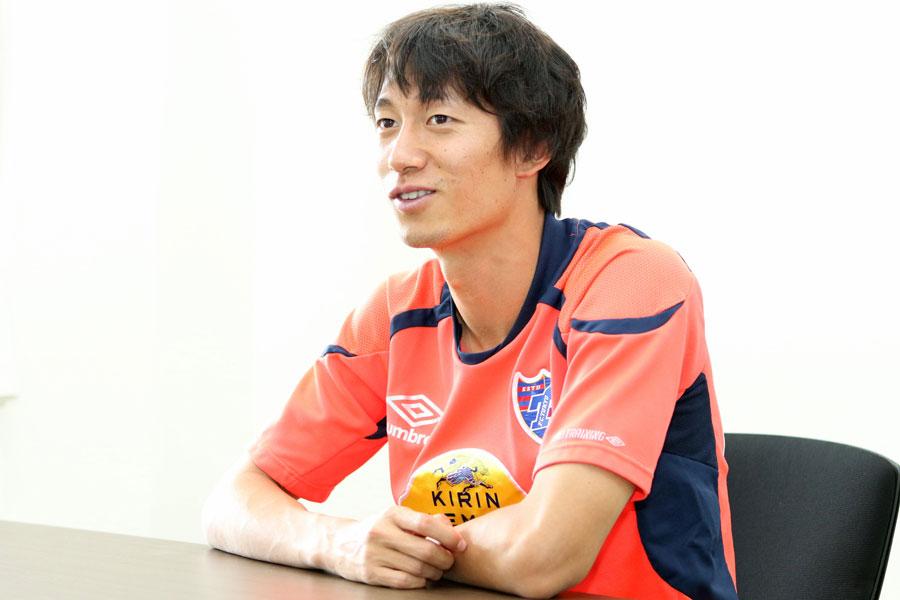 FC東京DF室屋は、ACL出場圏内へ必勝を誓った【写真:Football ZONE web】
