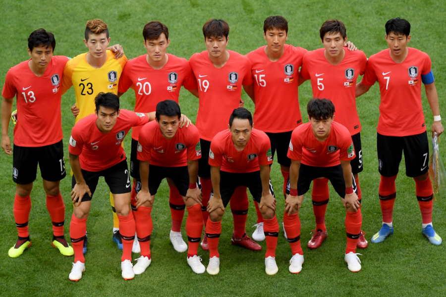 2試合連続で無観客試合を戦った韓国代表(写真は2018年のものです)【写真:Getty Images】