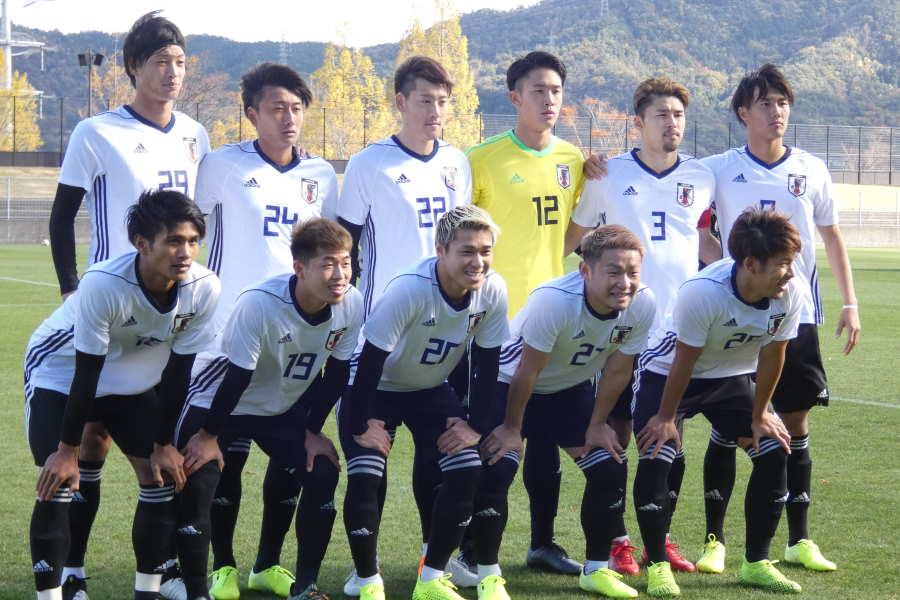 U-22コロンビア戦のスタメンが発表【写真:Football ZONE web】