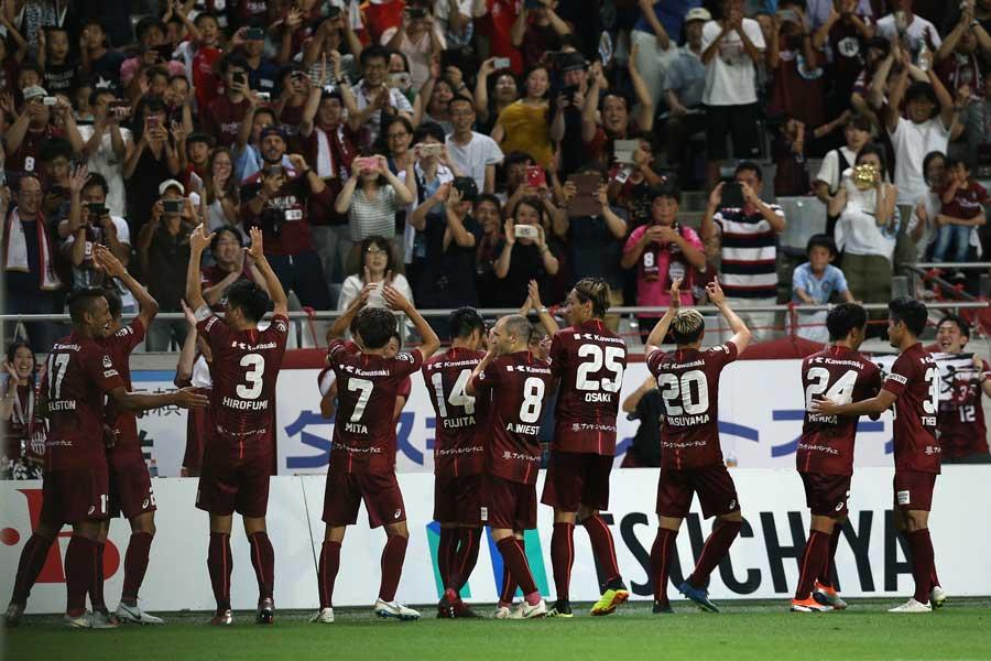 神戸が鹿島を3-1で撃破【写真:Getty Images】