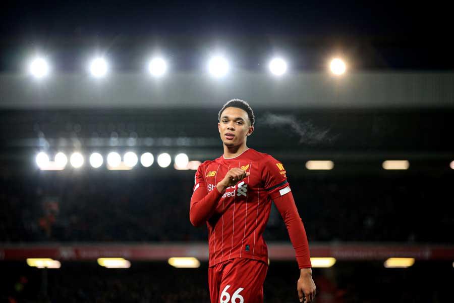 リバプールのイングランド代表DFトレント・アレクサンダー=アーノルド【写真:Getty Images】