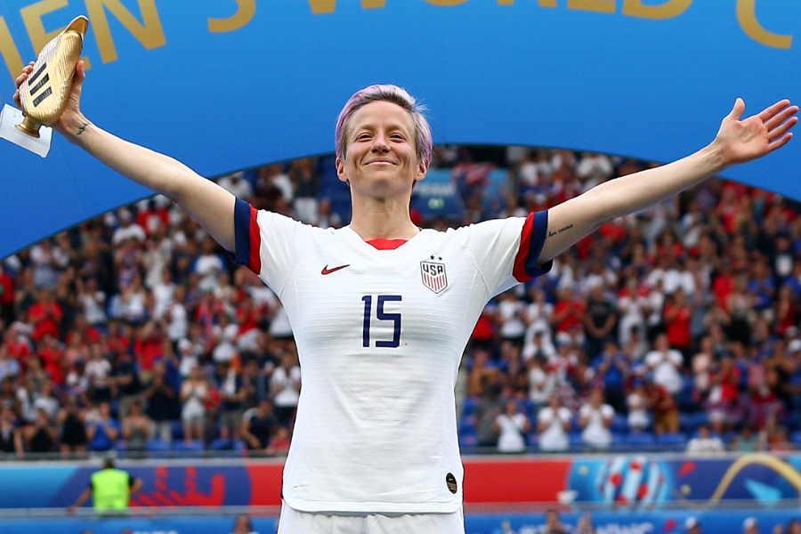 女子「バロンドール」を初受賞したアメリカ女子代表MFミーガン・ラピノー【写真:Getty Images】