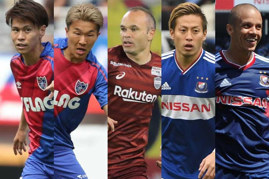 JリーグベストイレブンはFC東京から最多6名が選出!【写真:高橋学&Noriko NAGANO&Getty Images】