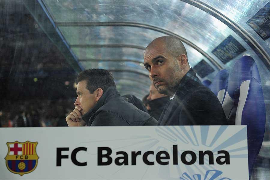 かつてバルセロナの監督を務めていたペップ・グアルディオラ【写真:Getty Images】