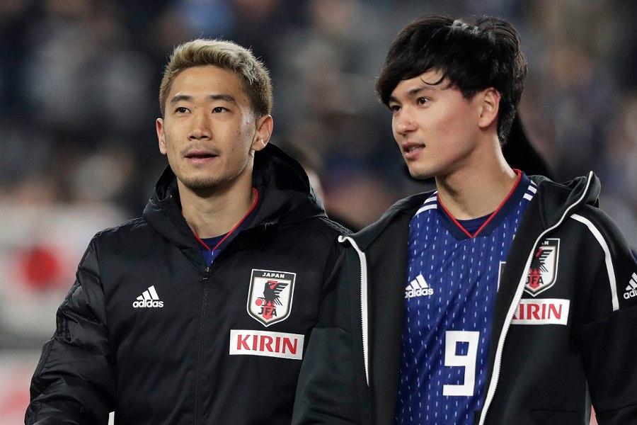 日本代表で共闘したMF香川(左)とMF南野【写真:Getty Images】