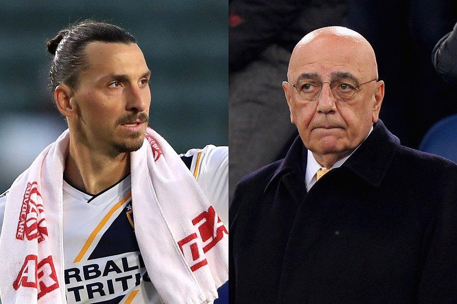 FWイブラヒモビッチ(左)の獲得に乗り出すことを明かしたアドリアーノ・ガリアーニ氏【写真:Getty Images】