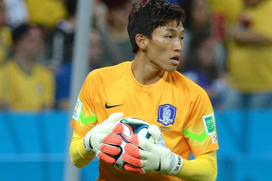 蔚山現代でプレーする韓国代表GKキム・スンギュ【写真:Getty Image】